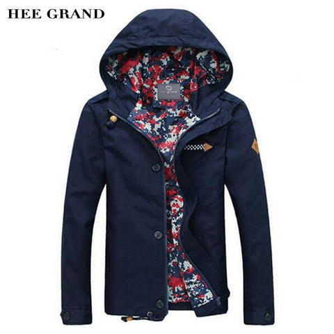 2016 Spring Solid Pattern With Hood Men's Fashion Jacket