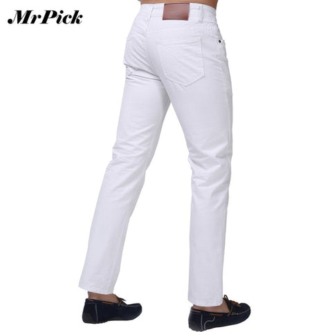 Slim Fit Candy Colors Mid Straight Denim Jeans Men's Fashion Pants