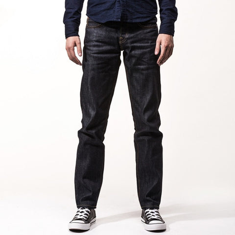 Stylish Vintage Designed Straight Raw Denim Classic Men's Fashion Pants