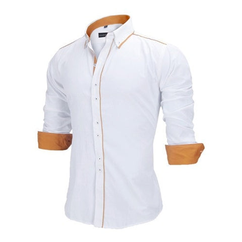Spring Stand Collar Long Sleeve Men's Fashion Shirts