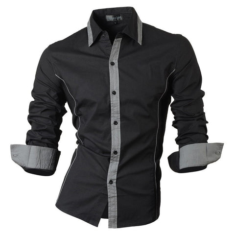 2016 Spring Slim Fit Long Sleeve Men's Casual Shirt - TheOnlineClothingStore