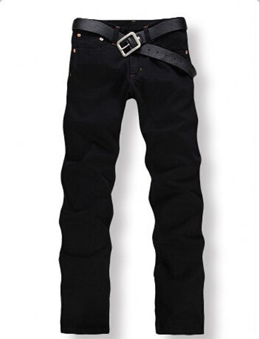 2016 Slim Straight Denim Jeans Men's Fashion Pants