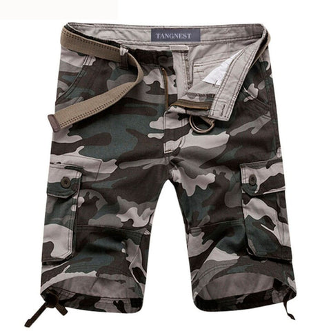 2016 Summer Knee Length Straight Men's Camouflage Beach Shorts