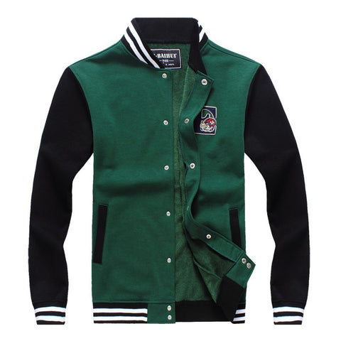Cotton Thick Pullover University Design Men's Fashion Jacket