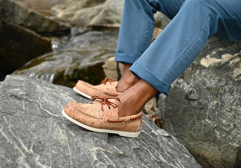 Wine cork style boat shoes
