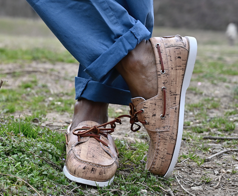 winery styled boat shoes