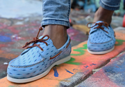 froats light blue boat shoes street style