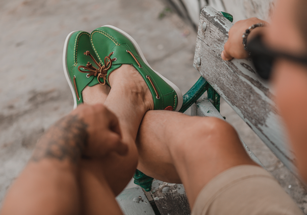 FROATS green boat shoes outdoor lifstyle