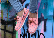 the anglers salmon boat shoes street lifestyle