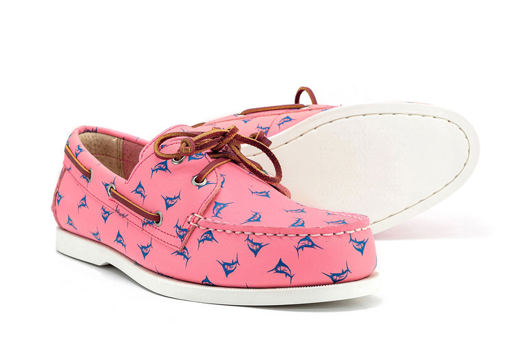 the anglers boat shoe froats pink color white sole