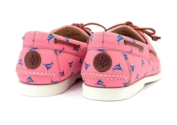 froats brand salmon colored pink boat shoe