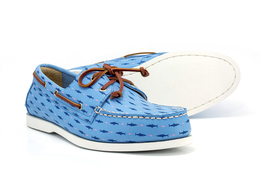 froats light blue boat shoes white sole
