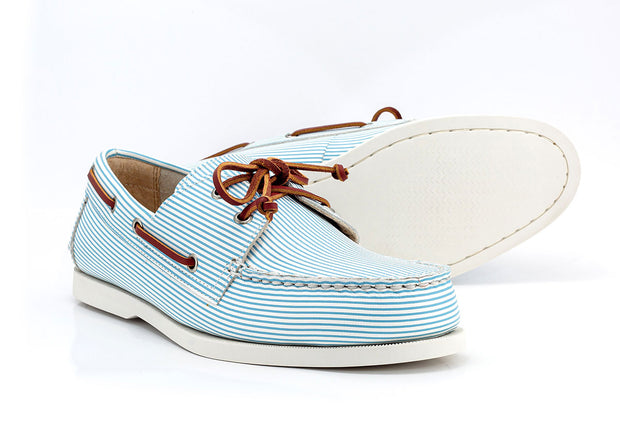 seersucker boat shoe sole white