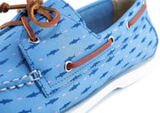 sharks and minnows blue boat shoe froats