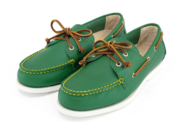 shooter mcgavins froats green boat shoe pair view