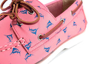 the anglers salmon boat shoe detail shot