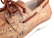 Detail close up of FROATS Wine and Dines boat shoe