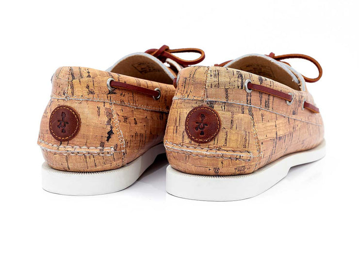 FROATS Wine and Dines Stylish Boat Shoes Back View with Logo