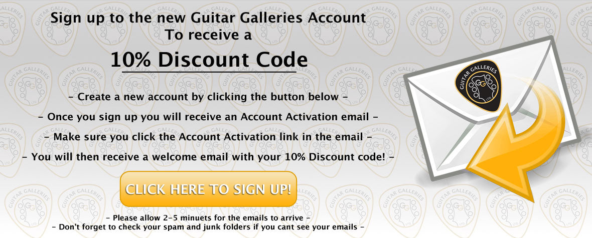 Sign up to the new Guitar Galleries Account