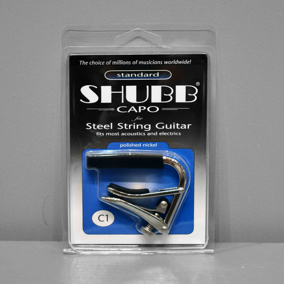 Shubb Capo C1 - Steel String (Polished Nickel)