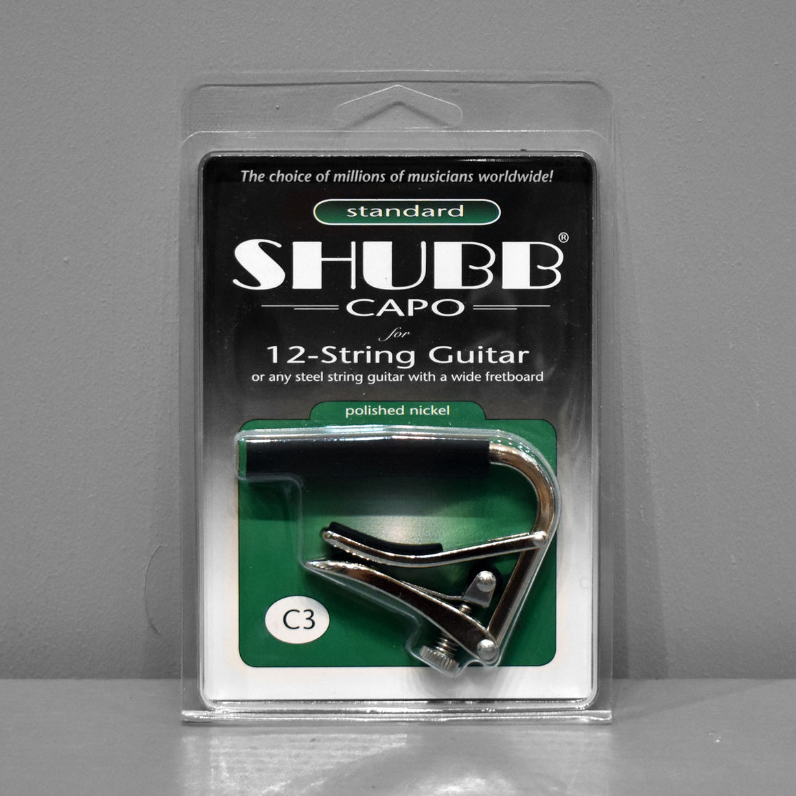 Shubb Capo C3 - 12-String (Polished Nickel)