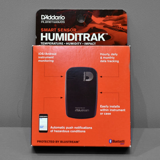 D'Addario Humiditrak, Bluetooth Humidity and Temperature Sensor