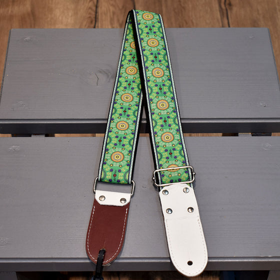 "DSL Sal Green Brown 2"" Guitar Strap (JAC20-SAL-GREEN)"