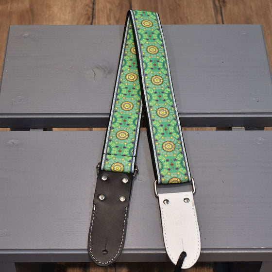 "DSL Sal Green Black 2"" Guitar Strap (JAC20-SAL-GREEN)"