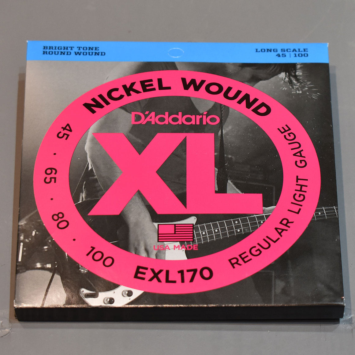 D'Addario EXL170 45-100 Regular Light Bass Guitar Strings - Long Scale