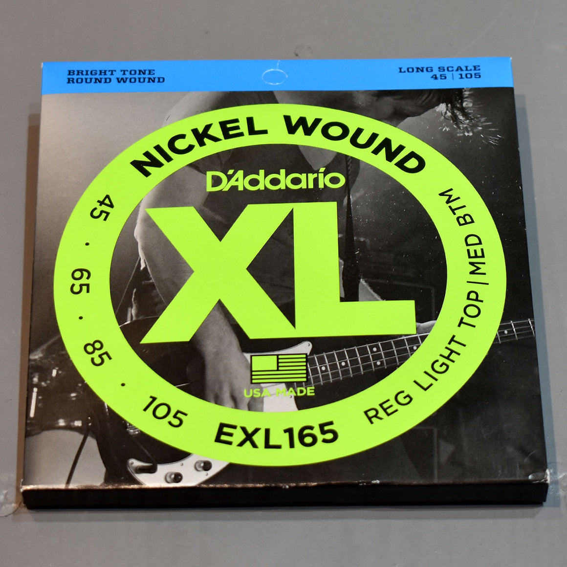 D'Addario EXL165 45-105 Regular Light Top Medium Bottom Bass Guitar Strings - Long Scale