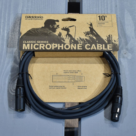 D'Addario Classic Series 10ft XLR Microphone Cable