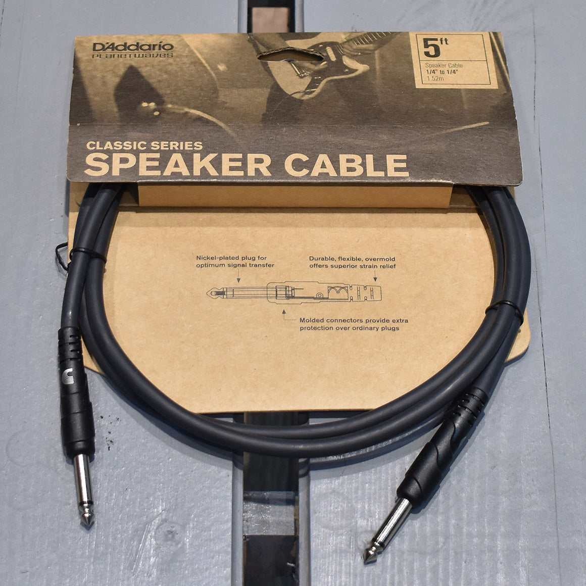 D'Addario Classic Series 5ft Speaker Cable