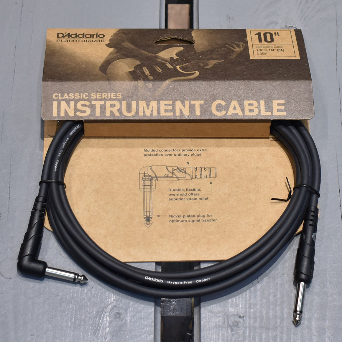 D'Addario Classic Series 10ft Angled Instrument Cable