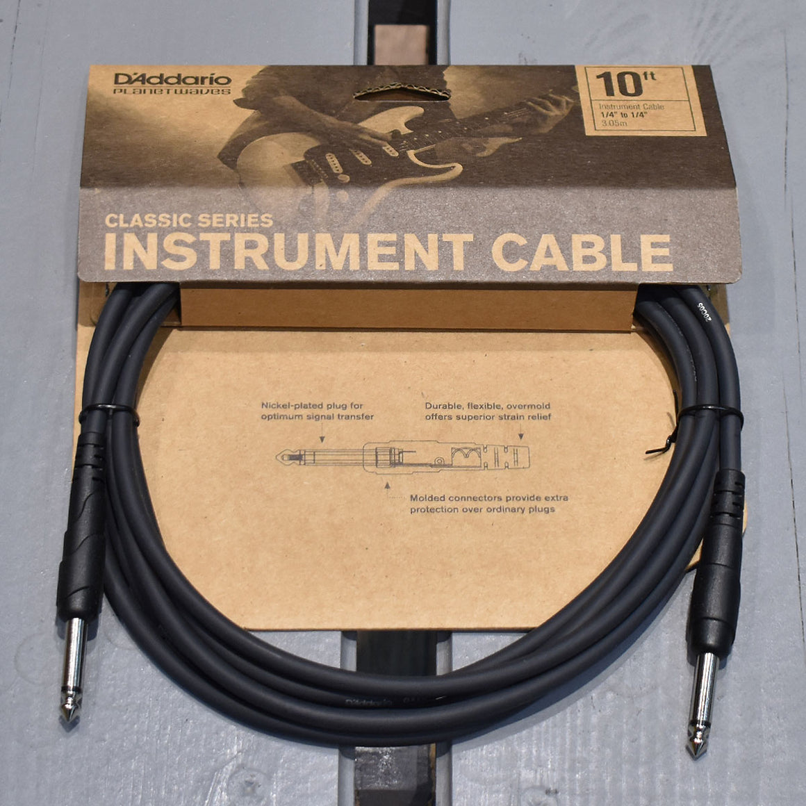 D'Addario Classic Series 10ft Straight Instrument Cable