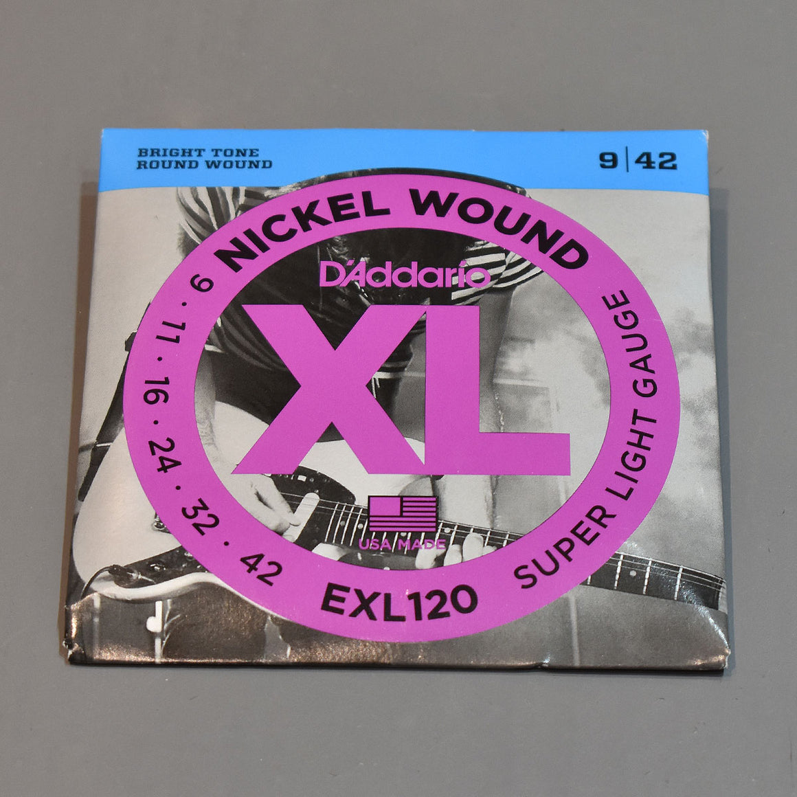 D'Addario EXL120 9-42 Super Light Nickel Wound Electric Guitar Strings