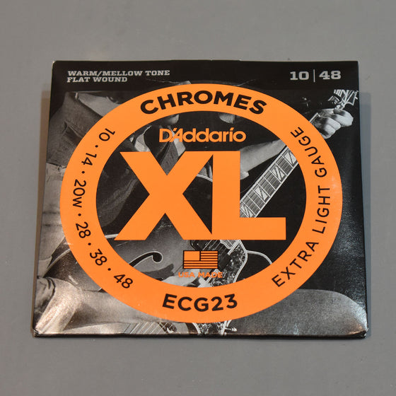 D'Addario ECG23 10-48 XL Chromes Extra Light Flat Wound Electric Guitar Strings