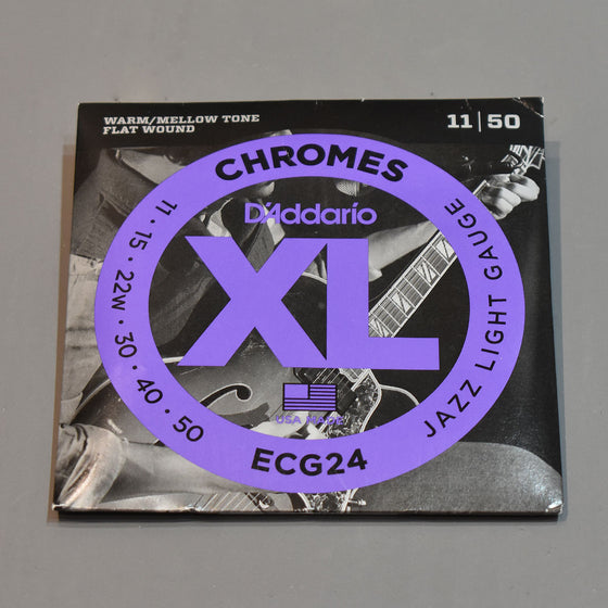 D'Addario ECG24 11-50 XL Chromes Jazz Light Flat Wound Electric Guitar Strings