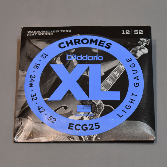 D'Addario ECG25 12-52 XL Chromes Light Flat Wound Electric Guitar Strings