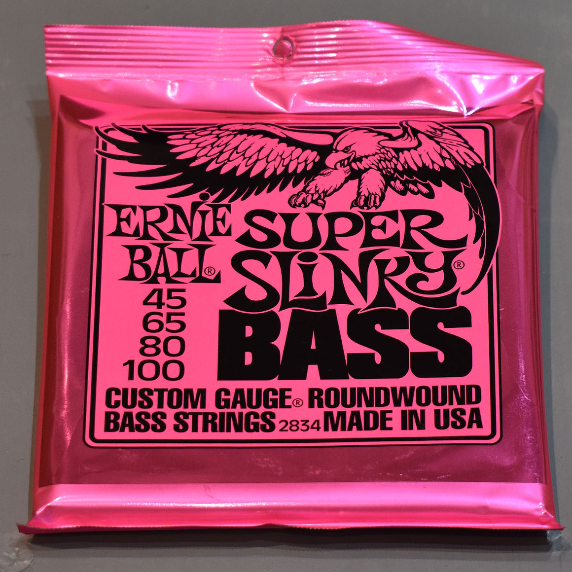 Ernie Ball Super Slinky Bass Nickel Wound Electric Bass Strings - 45-100 Gauge