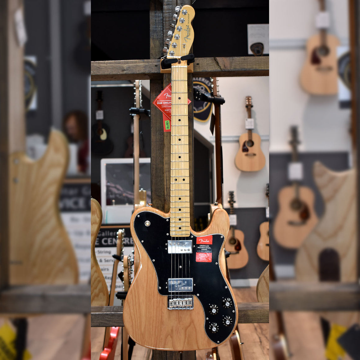 Fender American Professional Telecaster Deluxe Shawbucker Natural with Hard Case