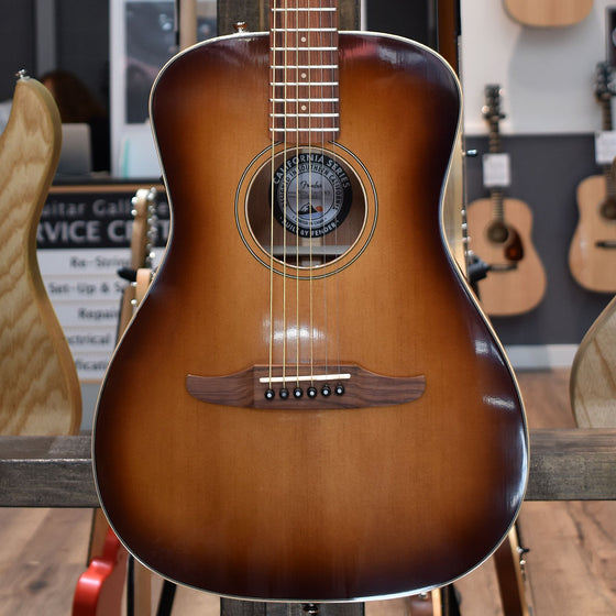 Fender Malibu Classic Aged Cognac Burst Electro Acoustic Guitar w/ Deluxe Gig Bag