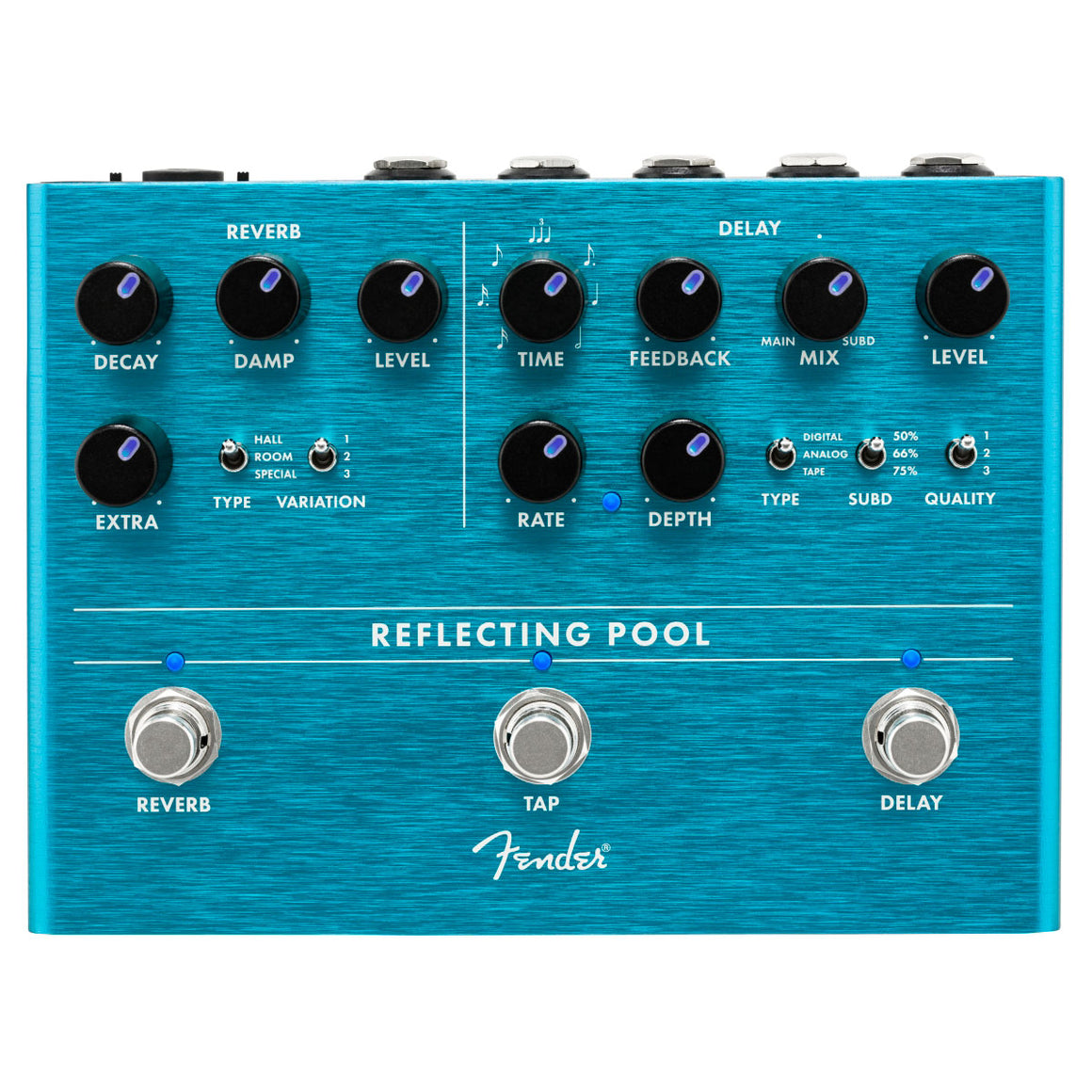 "Fender ""Reflecting Pool"" Delay-Reverb Pedal"