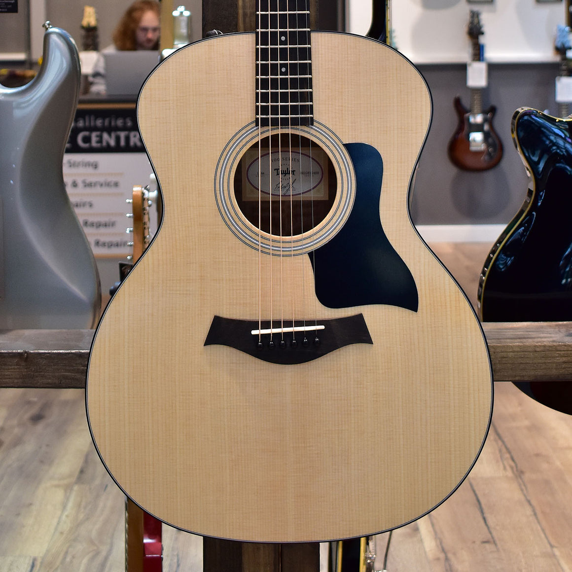 Taylor 114e Walnut/Sitka Electro Acoustic Guitar (Maple Neck) with Gig Bag
