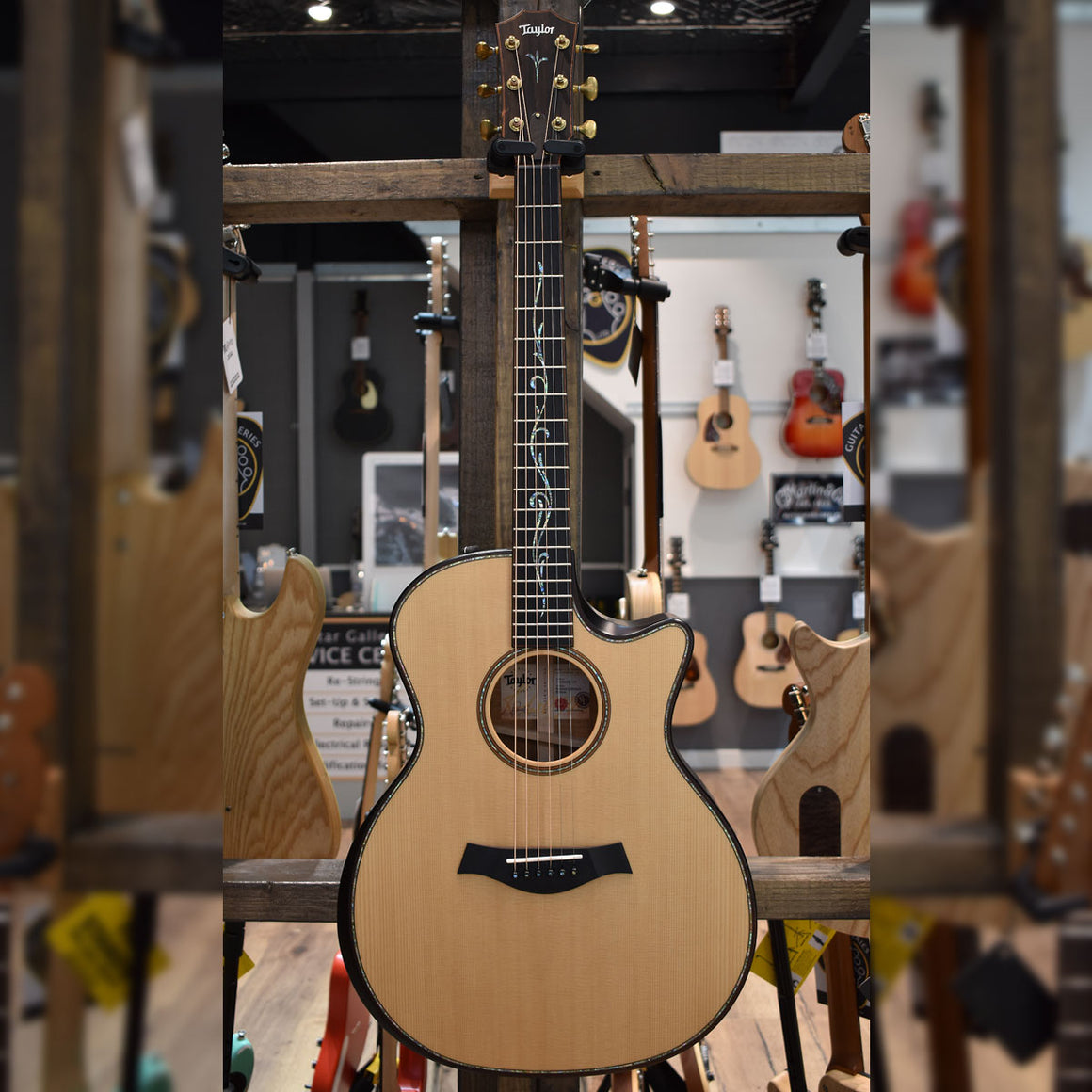 Taylor Builder's Edition K14ce V-Class Bracing Electro Acoustic Guitar with Taylor Hard Case