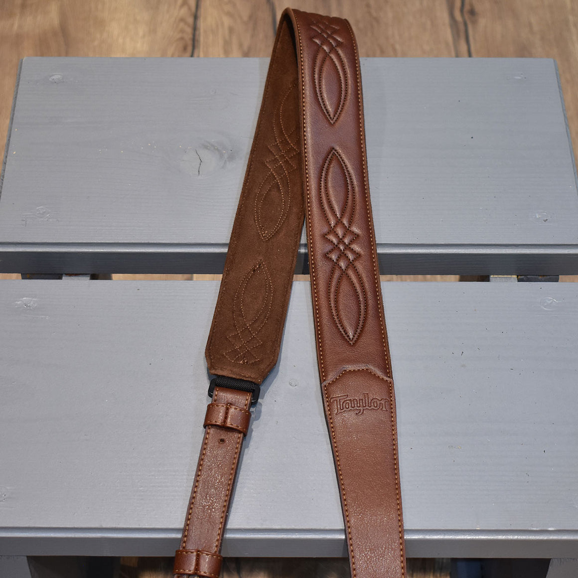 Taylor Vegan Leather Medium Brown Guitar Strap
