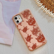Boho Turtles - Pink Printed Eco-Friendly Compostable Mobile Phone Case