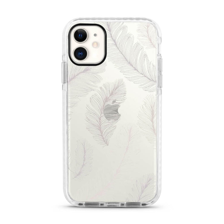White Tropical - Protective White Bumper Mobile Phone Case-Minca Cases