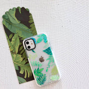 Rainforest Palms - Protective White Bumper Mobile Phone Case