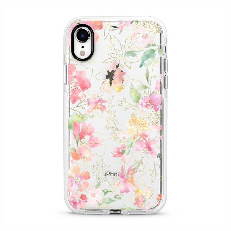 Floral Dream - Protective White Bumper Mobile Phone Case-Minca Cases