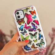 Enchanting Butterfly - Protective White Bumper Mobile Phone Case